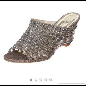 John Fashion rhinestone sandal.